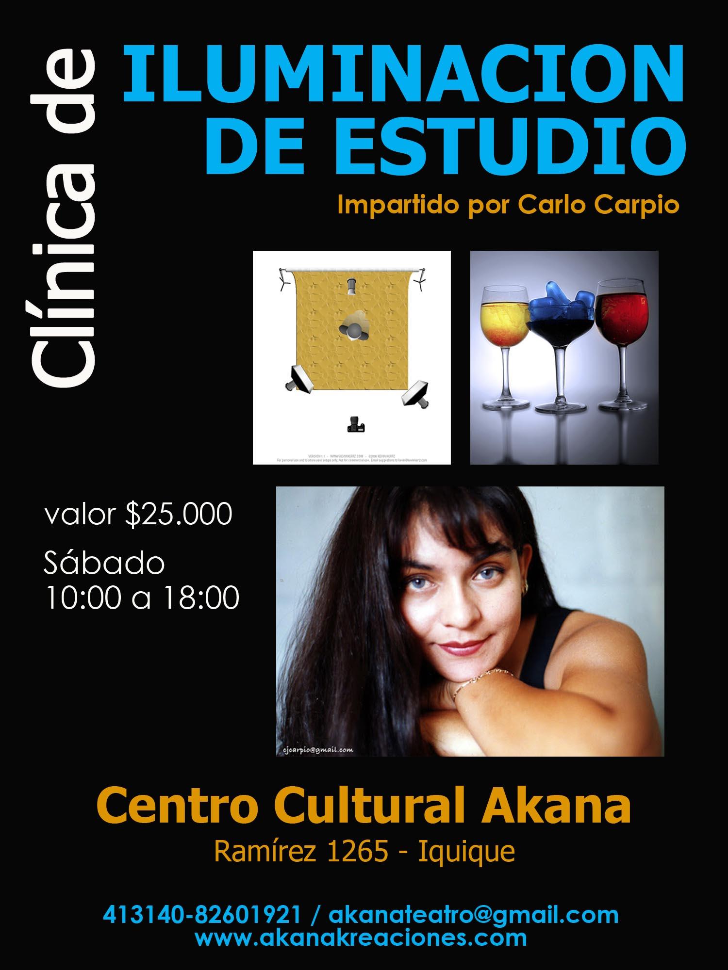 ILUMINACIÓN DE ESTUDIO – Clínica/Taller – 2013 Iquique